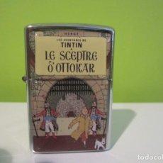 Cómics: MECHERO TIPO ZIPPO TINTIN . EL CETRO DE OTTOKKAR. Lote 139648104