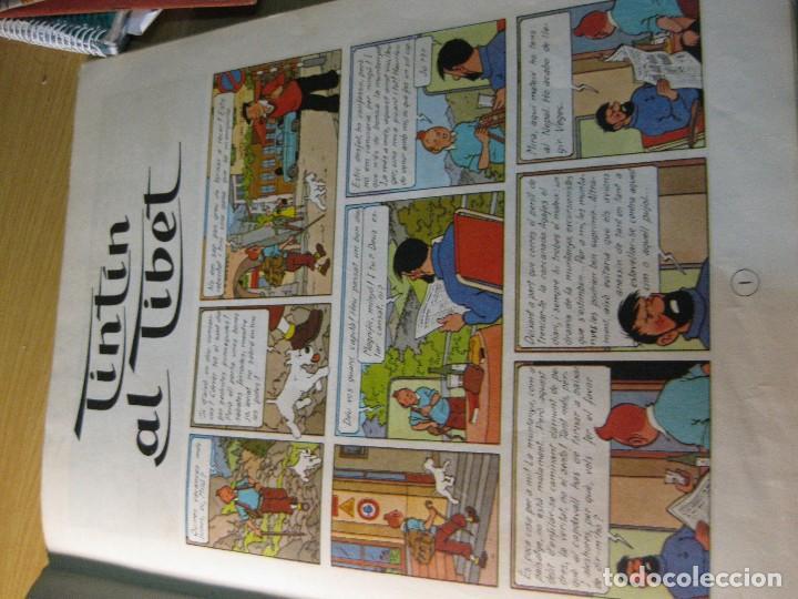Cómics: tintin al tibet . catalan . 2 edición - año 1970 lomo en tela - Foto 5 - 125860847