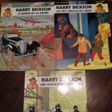 Cómics: HARRY DICKSON (3). LA BANDA DE LA ARAÑA / LOS TRES CIRCULOS DEL MIEDO / LOS FANTASMAS VERDUGOS.. Lote 126113187