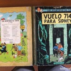 Cómics: TINTIN VUELO 714 VUELO SIDNEY PRIMERA EDICION ABRIL 1969. Lote 126234791