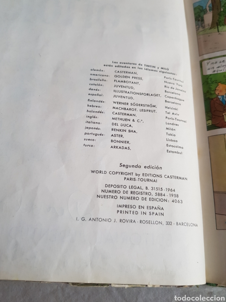 Cómics: Tintin el cetro de Ottokar segunda edición - Foto 2 - 126650235