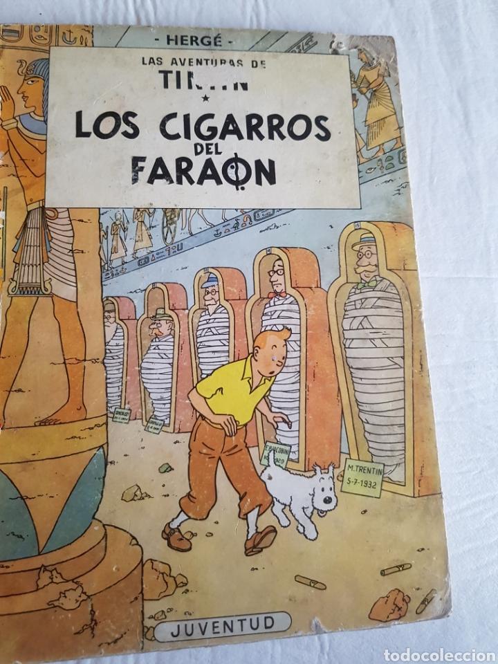 TIN TIN LOS CIGARROS DEL FARAÓN PRIMERA EDICIÓN (Tebeos y Comics - Juventud - Tintín)