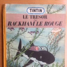 Cómics: TINTIN - LE TRÉSOR DE RACKHAM LE ROUGE. EDICIÓN B7 EN FRANCÉS DEL AÑO 1952. MEDALLÓN AZUL. Lote 126771306