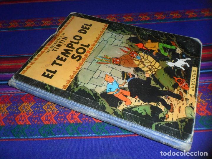 TINTIN EL TEMPLO DEL SOL 1ª PRIMERA EDICIÓN 1961. EDITORIAL JUVENTUD. DIFÍCIL. (Tebeos y Comics - Juventud - Tintín)