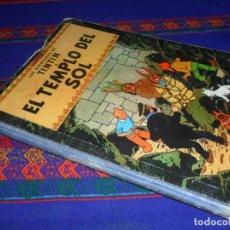 Cómics: TINTIN EL TEMPLO DEL SOL 1ª PRIMERA EDICIÓN 1961. EDITORIAL JUVENTUD. DIFÍCIL.. Lote 126869643