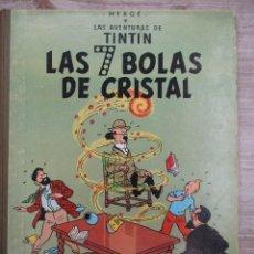 Cómics: TINTIN LAS 7 BOLAS DE CRISTAL LOMO DE TELA 3ª EDCION 1969 CATALAN HERGE. Lote 127955651