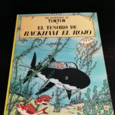 Cómics: HERGE - TINTIN - EL TESORO DE RACKHAM EL ROJO - JUVENTUD - 8ª EDICION 1981. Lote 128008743