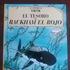 Cómics: TINTIN HERGÉ EDICIÓN CASTERMAN RETIRADA DE LAS TIENDAS EL TESORO DE RACKHAM EL ROJO. Lote 128199619