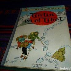 Cómics: CON LETRAS EN EL LOMO, TINTIN EN EL TÍBET 2ª SEGUNDA EDICIÓN 1965. JUVENTUD.. Lote 128862867