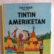 Cómics: HERGÉ - TINTINEN ABENTURAK TINTIN AMERIKETAN 1989 EN EUSKERA.. Lote 130195795