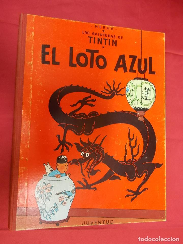 TINTÍN. EL LOTO AZUL . JUVENTUD . 1970 . 3ª EDICION (Tebeos y Comics - Juventud - Tintín)