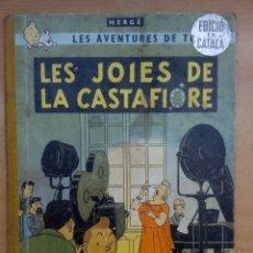 Cómics: TINTIN . LES JOIES DE LA CASTAFIORE. LOMO DE TELA. 1A EDICIÓN. 1965. CATALAN. Lote 130636990