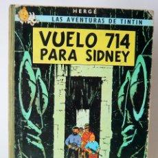 Cómics: TINTÍN - VUELO 714 PARA SIDNEY - 1ª EDICIÓN 1969. Lote 130929884
