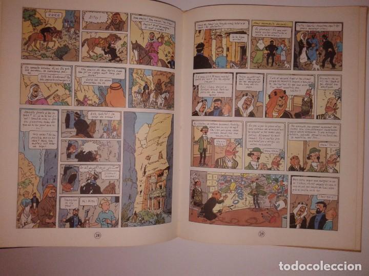 Cómics: LES AVENTURES DE TINTIN, STOC DE COC, 1981, 4ª EDICIO, EN CATALA - Foto 3 - 130949588