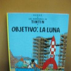 Cómics: HERGE. LAS AVENTURAS DE TINTIN.OBJETIVO:LA LUNA. EDITORIAL JUVENTUD SEPTIMA EDICION 1979.. Lote 130973716