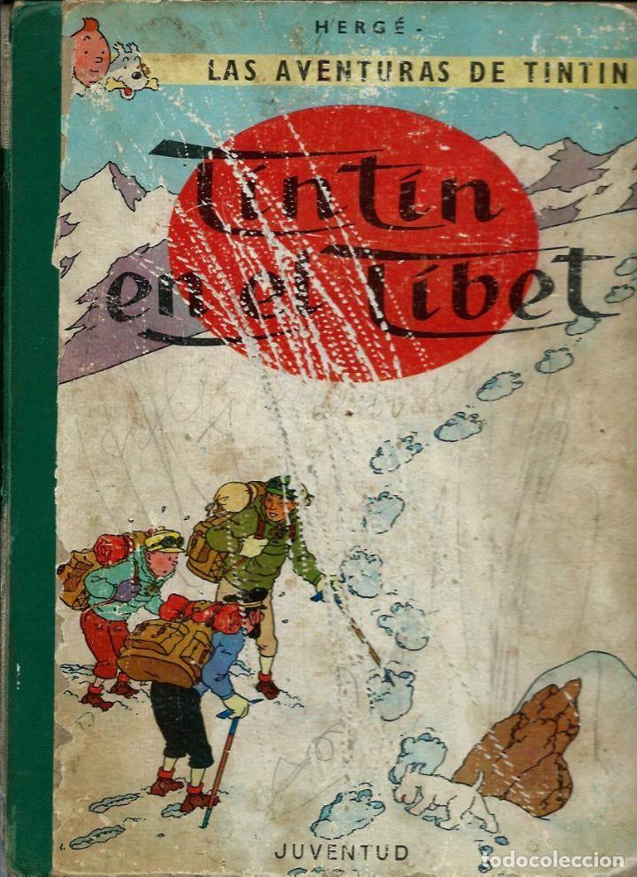 HERGE - TINTIN EN EL TIBET - EDITORIAL JUVENTUD 1962, PRIMERA 1 1ª EDICION - VER DESCRIPCION (Tebeos y Comics - Juventud - Tintín)