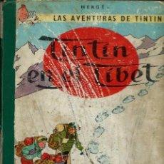 Cómics: HERGE - TINTIN EN EL TIBET - EDITORIAL JUVENTUD 1962, PRIMERA 1 1ª EDICION - VER DESCRIPCION. Lote 130981868