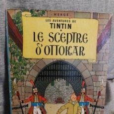 Cómics: LES AVENTURES DE TINTIN- LE SCEPTRE D'OTTOKAR, CASTERMAN- 1°EDICIÓN, 1947. EN FRANCÉS.. Lote 130984397