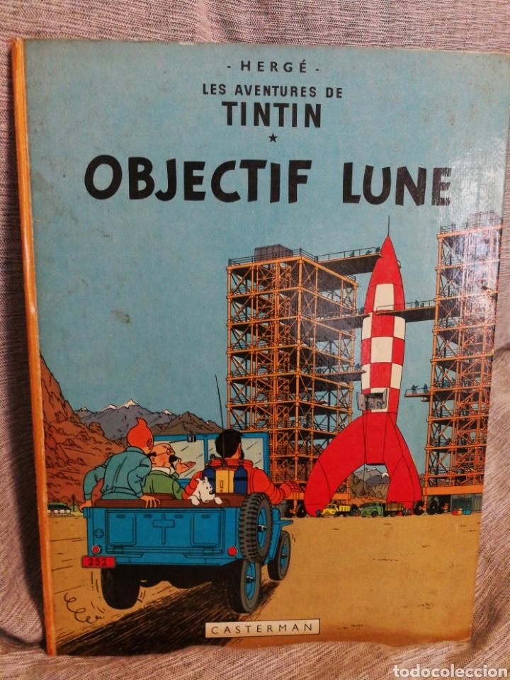 LES AVENTURES DE TINTIN- OBJECTIF LUNE, CASTERMAN- 1°EDICIÓN.(IMP.BELGICA) EN FRANCÉS. (Tebeos y Comics - Juventud - Tintín)