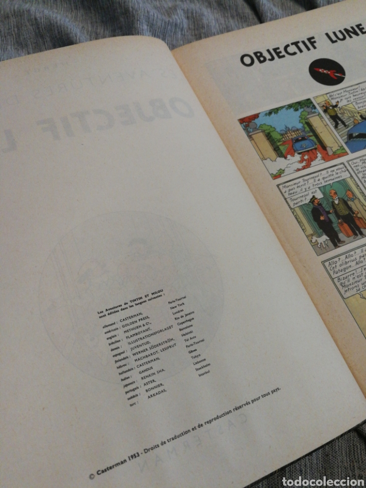 Cómics: LES AVENTURES DE TINTIN- OBJECTIF LUNE, CASTERMAN- 1°EDICIÓN.(IMP.BELGICA) EN FRANCÉS. - Foto 3 - 130987673