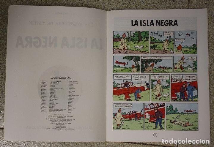 Cómics: LA ISLA NEGRA. LAS AVENTURAS DE TINTIN. CUARTA EDICION. JUVENTUD 1974 - Foto 2 - 131167108