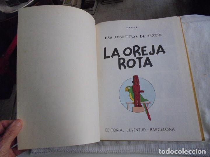 Cómics: HERGE.LAS AVENTURAS DE TINTIN.LA OREJA ROTA .-JUVENTUD 1969.-3ª EDICION - Foto 3 - 131168828