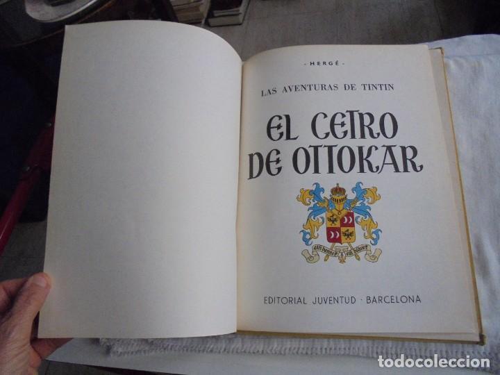 Cómics: HERGE.LAS AVENTURAS DE TINTIN.EL CETRO DE OTTOKAR .-JUVENTUD 1972.-5ª EDICION - Foto 3 - 131169052