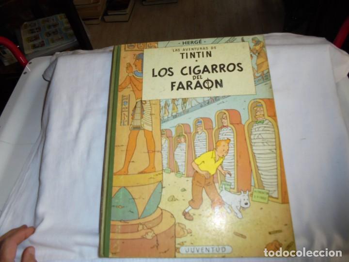 HERGE.LAS AVENTURAS DE TINTIN.LOS CIGARROS DEL FARAON .-JUVENTUD 1968.-3ª EDICION (Tebeos y Comics - Juventud - Tintín)
