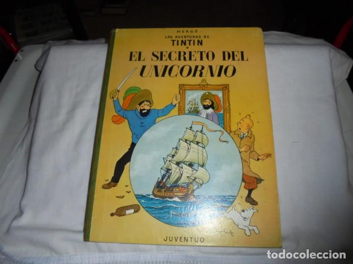 HERGE.LAS AVENTURAS DE TINTIN.EL SECRETO DEL UNICORNIO .-JUVENTUD 1972.-5ª EDICION (Tebeos y Comics - Juventud - Tintín)