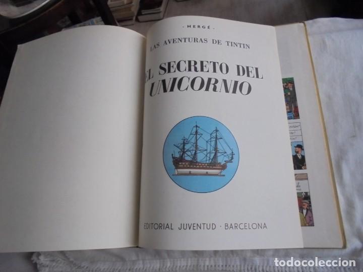 Cómics: HERGE.LAS AVENTURAS DE TINTIN.EL SECRETO DEL UNICORNIO .-JUVENTUD 1972.-5ª EDICION - Foto 3 - 131185880