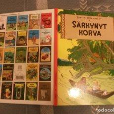 Cómics: TINTIN IDIOMAS - LA OREJA ROTA - SARKYNYT KORVA - FINLANDES - FINES - IDIOMA. Lote 131530550
