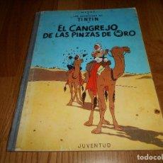 Cómics: TINTIN, EL CANGREJO DE LAS PINZAS DE ORO , JUVENTUD , 2ª EDICION 1966 TAPA DURA, ORIGINAL. Lote 251630510