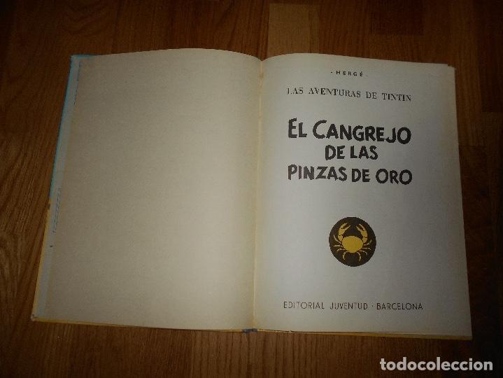 Cómics: TINTIN, EL CANGREJO DE LAS PINZAS DE ORO , JUVENTUD , 2ª EDICION 1966 TAPA DURA, ORIGINAL - Foto 3 - 251630510