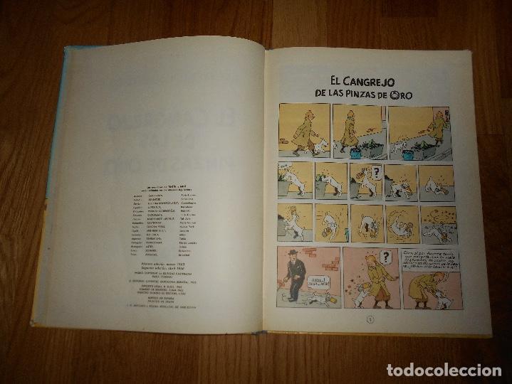 Cómics: TINTIN, EL CANGREJO DE LAS PINZAS DE ORO , JUVENTUD , 2ª EDICION 1966 TAPA DURA, ORIGINAL - Foto 4 - 251630510