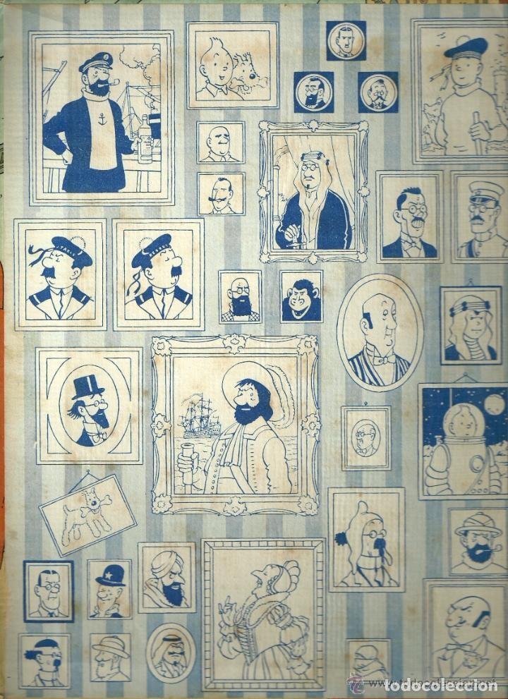 Cómics: TINTIN. ELS CIGARS DEL FARAÓ - EDITORIAL JUVENTUD - 2ª EDICIÓN EN CATALÁN. LOMO COLOR MARRÓN - 1965 - Foto 2 - 134836002