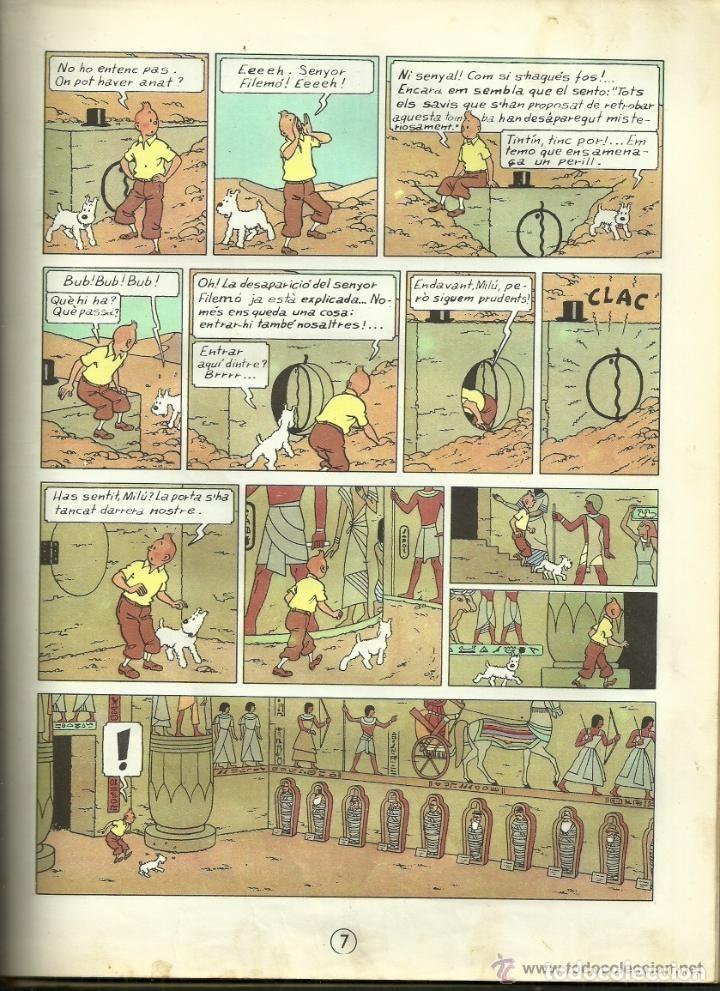Cómics: TINTIN. ELS CIGARS DEL FARAÓ - EDITORIAL JUVENTUD - 2ª EDICIÓN EN CATALÁN. LOMO COLOR MARRÓN - 1965 - Foto 9 - 134836002