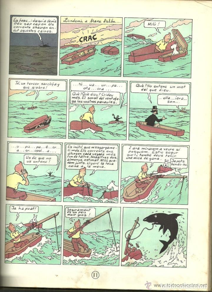 Cómics: TINTIN. ELS CIGARS DEL FARAÓ - EDITORIAL JUVENTUD - 2ª EDICIÓN EN CATALÁN. LOMO COLOR MARRÓN - 1965 - Foto 10 - 134836002