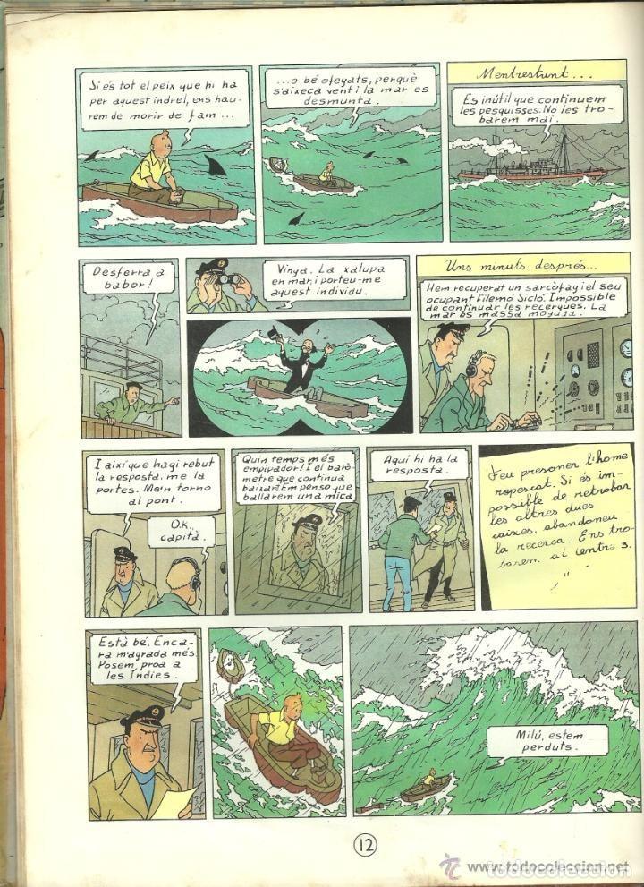 Cómics: TINTIN. ELS CIGARS DEL FARAÓ - EDITORIAL JUVENTUD - 2ª EDICIÓN EN CATALÁN. LOMO COLOR MARRÓN - 1965 - Foto 11 - 134836002