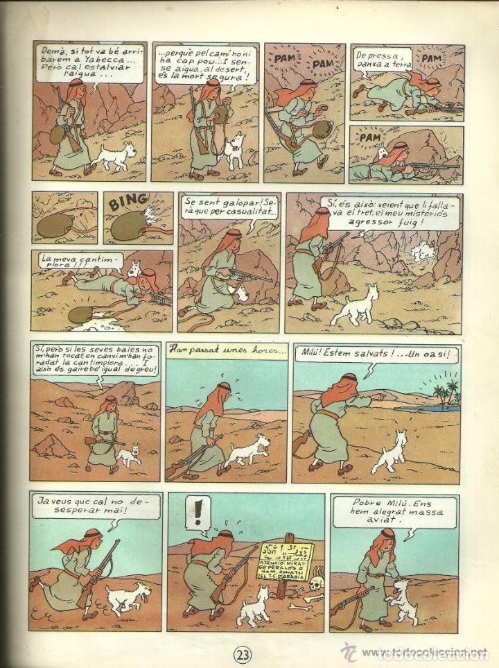 Cómics: TINTIN. ELS CIGARS DEL FARAÓ - EDITORIAL JUVENTUD - 2ª EDICIÓN EN CATALÁN. LOMO COLOR MARRÓN - 1965 - Foto 14 - 134836002