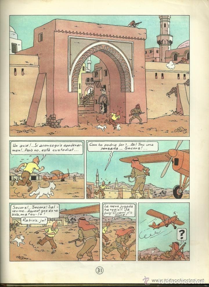 Cómics: TINTIN. ELS CIGARS DEL FARAÓ - EDITORIAL JUVENTUD - 2ª EDICIÓN EN CATALÁN. LOMO COLOR MARRÓN - 1965 - Foto 15 - 134836002