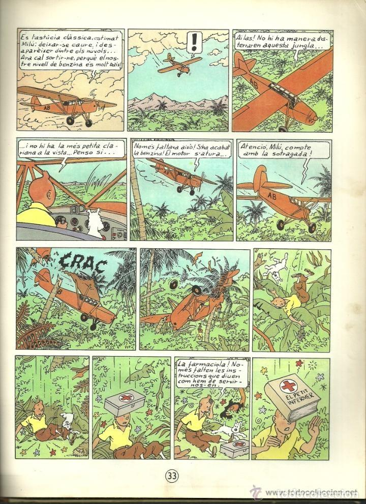 Cómics: TINTIN. ELS CIGARS DEL FARAÓ - EDITORIAL JUVENTUD - 2ª EDICIÓN EN CATALÁN. LOMO COLOR MARRÓN - 1965 - Foto 16 - 134836002