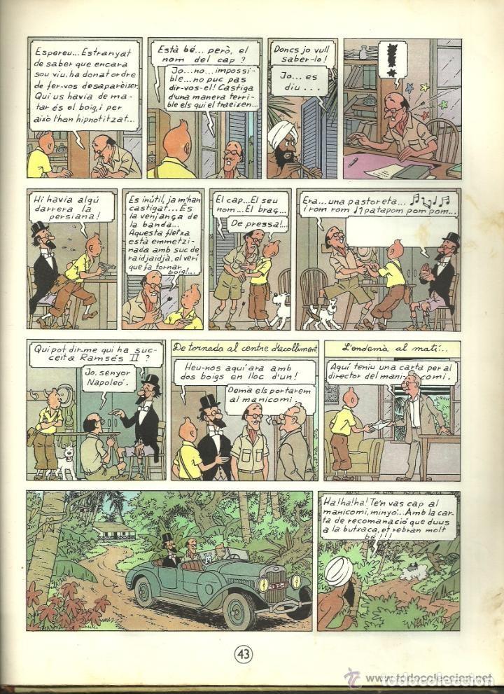 Cómics: TINTIN. ELS CIGARS DEL FARAÓ - EDITORIAL JUVENTUD - 2ª EDICIÓN EN CATALÁN. LOMO COLOR MARRÓN - 1965 - Foto 17 - 134836002