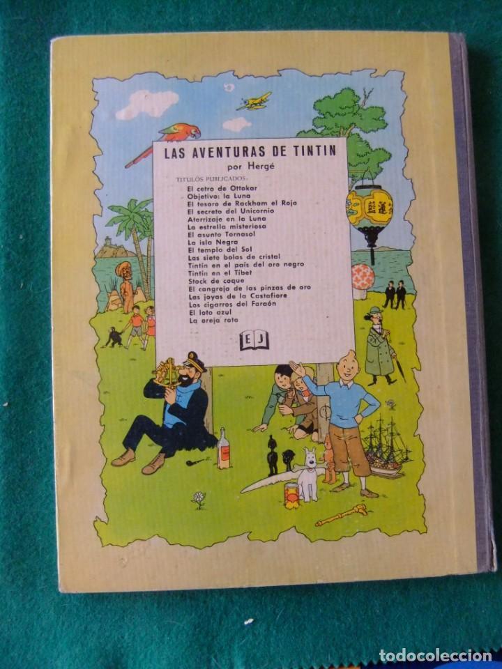 Cómics: LAS AVENTURAS DE TINTIN OBJETIVO LA LUNA EDITORIAL JUVENTUD 4ª EDICION 1967 - Foto 2 - 132888750