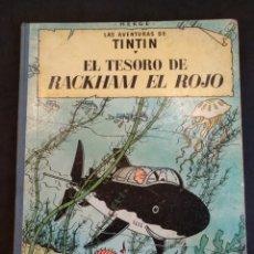 Cómics: TINTIN EL TESORO DE RACKHAM EL ROJO, 4°EDICION 1971. Lote 133195957
