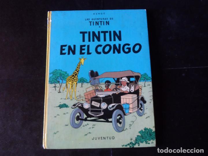 LAS AVENTURAS DE TINTIN - TINTIN EN EL CONGO - JUVENTUD TAPA DURA (Tebeos y Comics - Juventud - Tintín)
