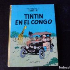 Cómics: LAS AVENTURAS DE TINTIN - TINTIN EN EL CONGO - JUVENTUD TAPA DURA . Lote 133264126