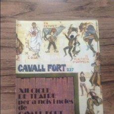Cómics: CAVALL FORT REVISTA PER A NOIS I NOIES. Lote 133365538