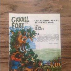 Cómics: CAVALL FORT REVISTA PER A NOIS I NOIES. Lote 133365598