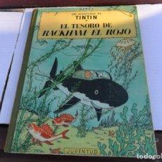 Cómics: TINTIN EL TESORO DE RACKHAM EL ROJO. 2ª SEGUNDA EDICICÓM 1964. JUVENTUD. BUEN ESTADO GENERAL.. Lote 133526246