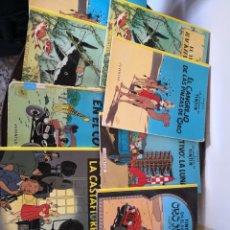 Cómics: LOTE COMICS TINTIN 9 LIBROS HAY DOS REPETIDOS. Lote 134199370